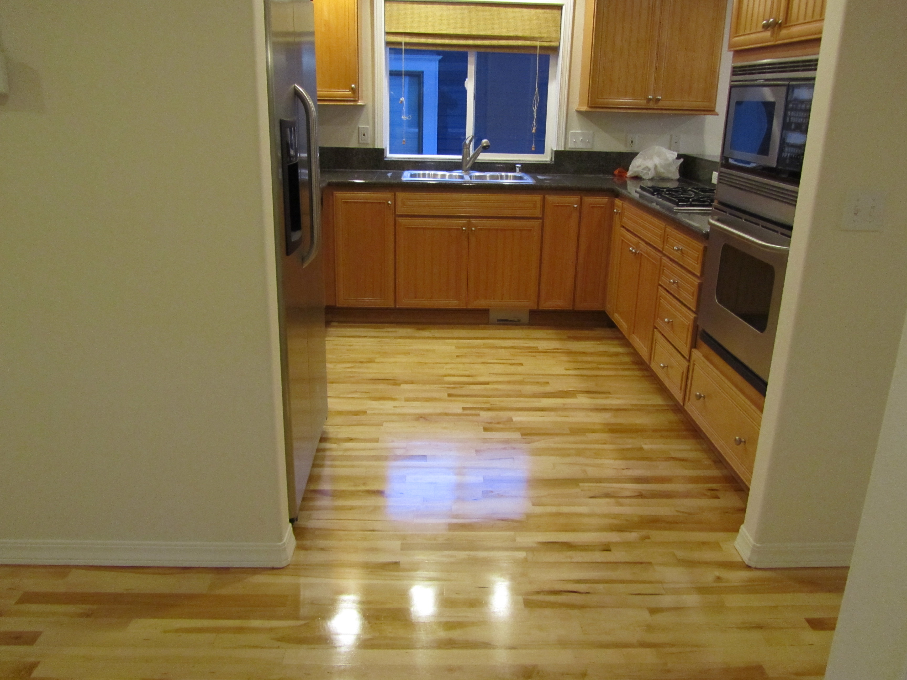 Refinished maple greenlake seattle general contractor for Hardwood floors seattle