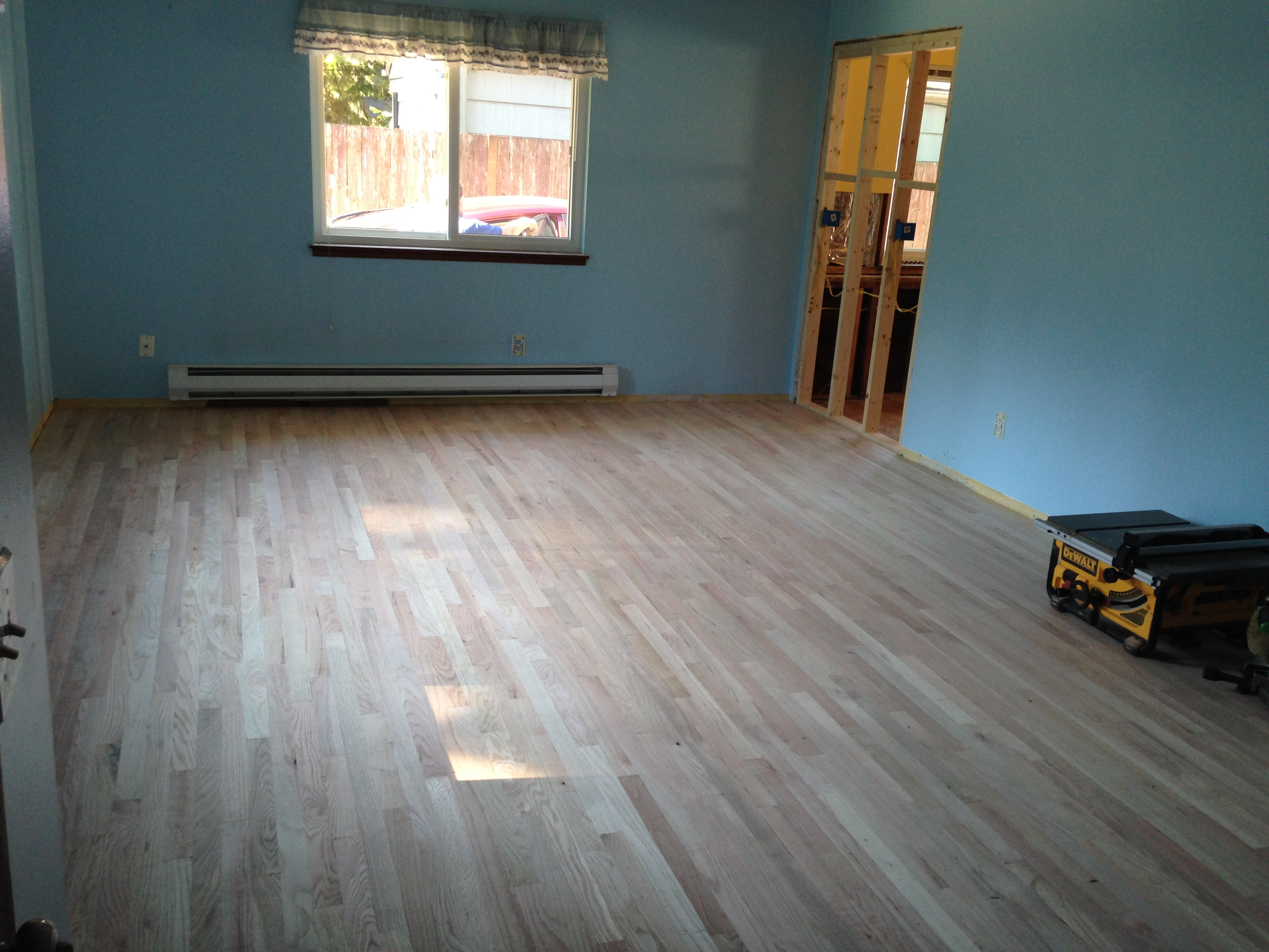 Provincial wood floor stain seattle general contractor for Staining hardwood floors