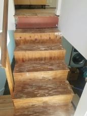 Original plywood stairs